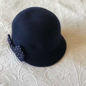Navy Cloche Hat